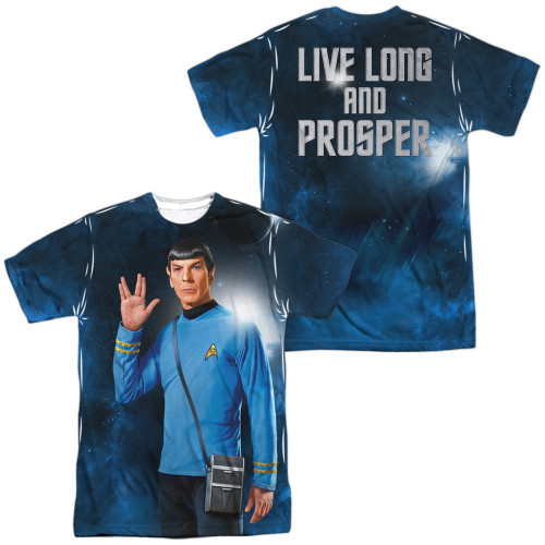 Star Trek Spock Salute FB Sublimated T Shirt