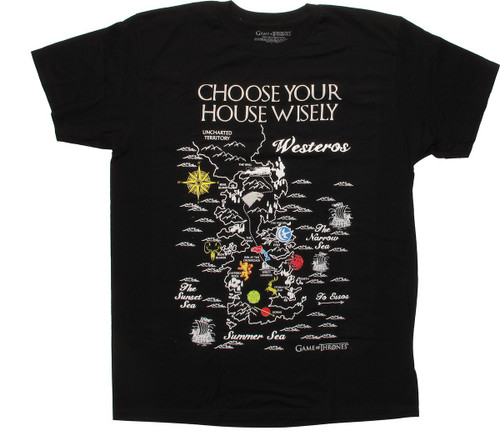 Game of Thrones Choose Wisely Map T-Shirt