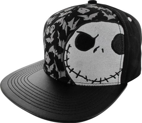f41188969959c mens a nightmare before christmas flat brim baseball hat black one ...