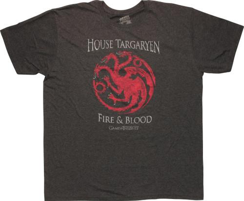Game of Thrones House Targaryen Fire Blood T-Shirt