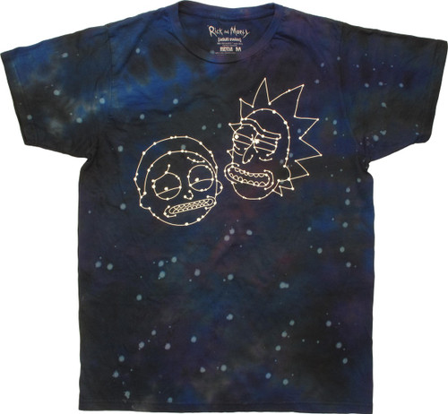 Rick and Morty Constellation Faces Tie Dye T-Shirt