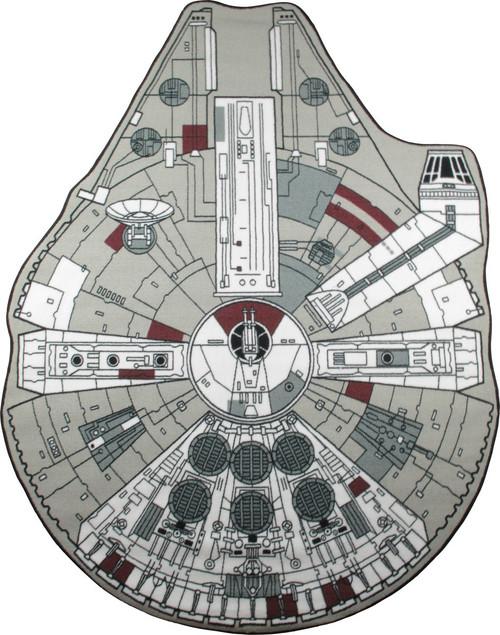 Star War Millennium Falcon Cut Out Rug