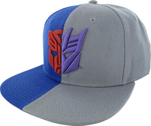 Transformers Autobot Decepticon Split Snapback Hat