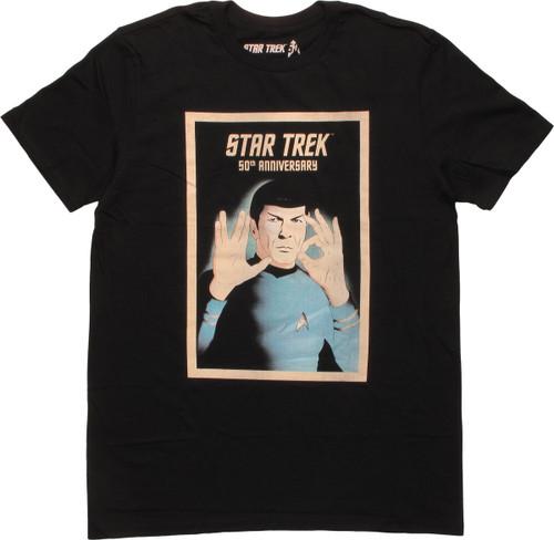 Star Trek 50th Anniversary Spock Hand Sign T-Shirt