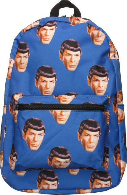 Star Trek Spock Head All Over Print Backpack