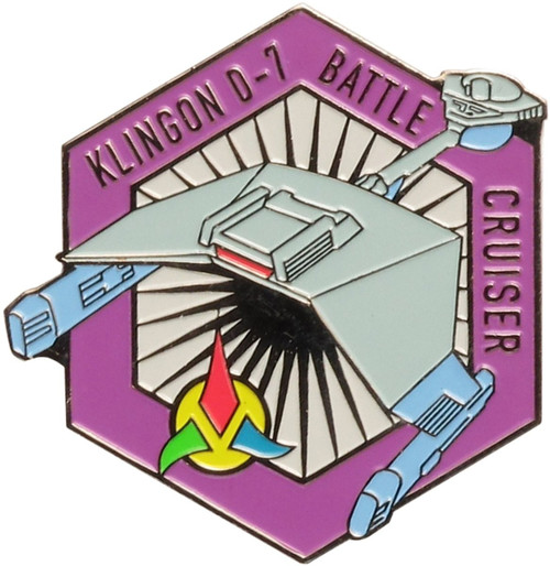 Star Trek Klingon D-7 Battle Cruiser Pin