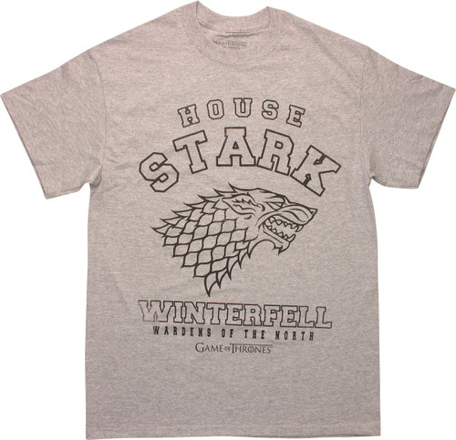 Game of Thrones Stark Wardens of North T-Shirt