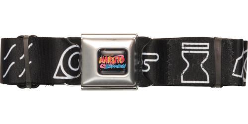 Naruto Village Symbols Gray Seatbelt Belt