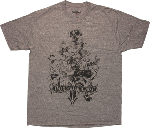 kingdom hearts ps 2 game cover outline t shirt