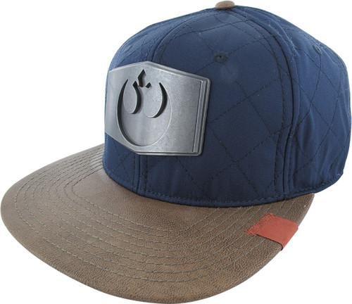 best service 8d323 bdf0a ... new style star wars rebel metal logo quilt snapback hat 0f964 9e741