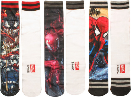 Spiderman Characters Sublimated 3 Pair Socks Set