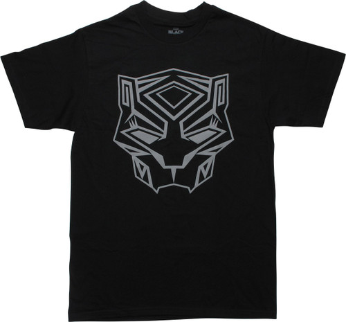 Black Panther Movie Mask Icon T-Shirt