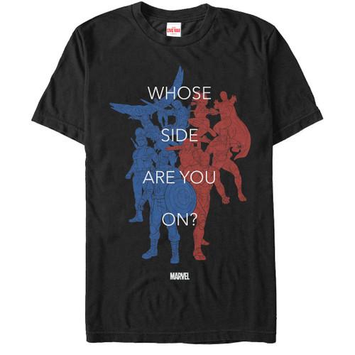 Captain America Civil War Whose Side Color T-Shirt