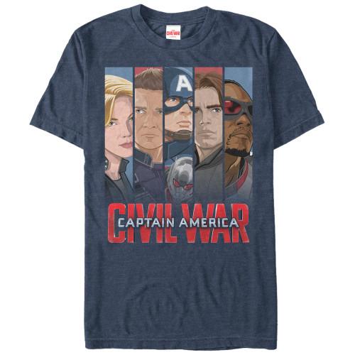 Captain America Civil War Captain Banners T-Shirt