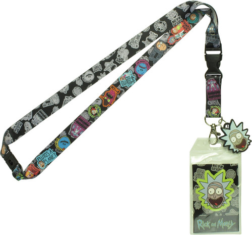Rick and Morty Characters Quotes Charm Lanyard