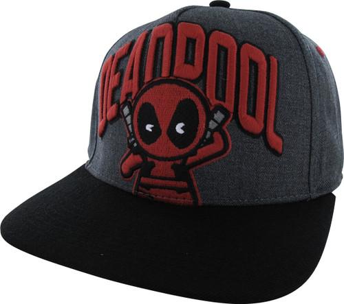 Deadpool Name Kawaii Flat Bill Snapback Hat