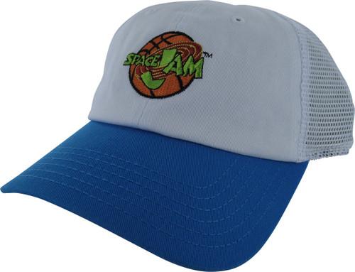 Space Jam Logo White Mesh Back Buckle Hat