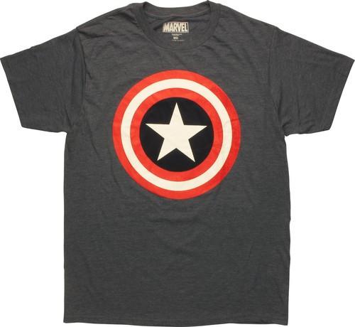 Captain America Solid Shield Logo Tall T-Shirt