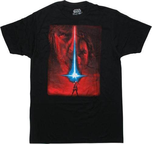 Star Wars Last Jedi Movie Poster T-Shirt