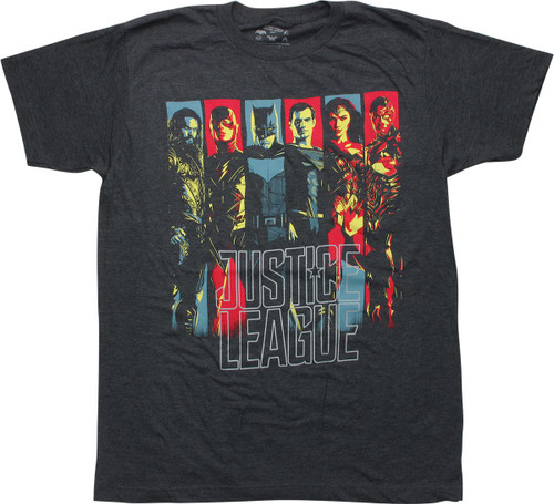 Justice League Movie Characters T-Shirt