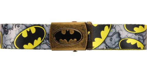 Batman All Over Logo Yellow Belt