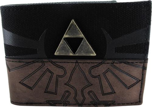 Zelda Logo Raised Metal Triforce Bi-Fold Wallet