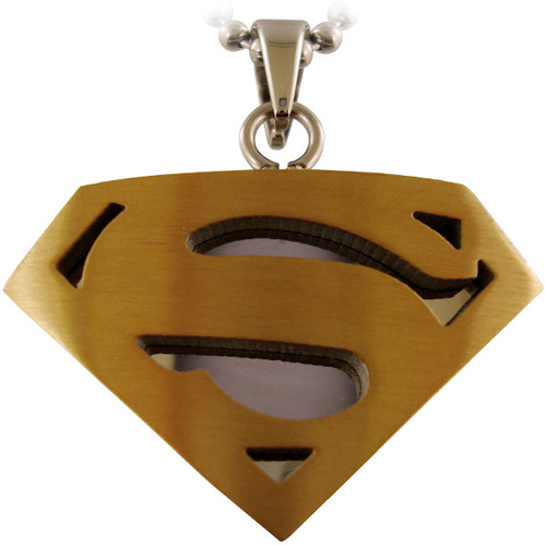 Superman Metal Logo Necklace Stainless Steel Superman Necklace At