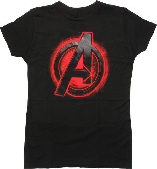 Avengers Black Widow Assemble Logo Juniors T Shirt