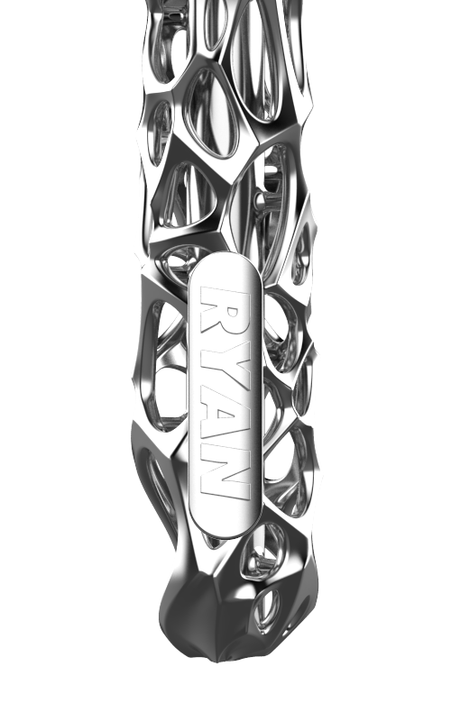 Coral in Chrome. Handle, View 4