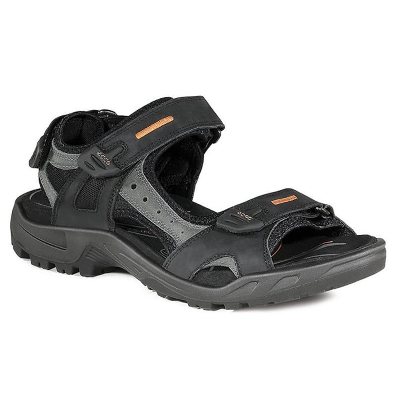Men's ECCO Yucatan Sandal, Size: 46 M, Bison/Black/Black