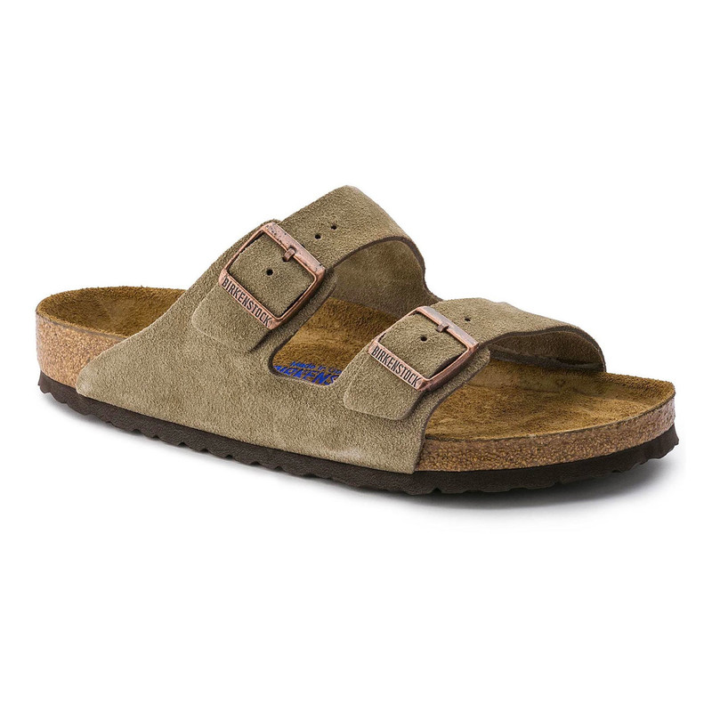 Birkenstock Arizona Soft Footbed - Taupe Suede (Regular Width) - 951301 - Angle
