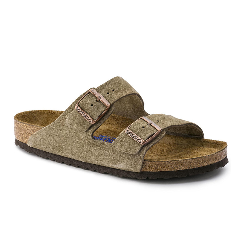 Birkenstock Arizona Soft Footbed - Taupe Suede (Narrow Width)