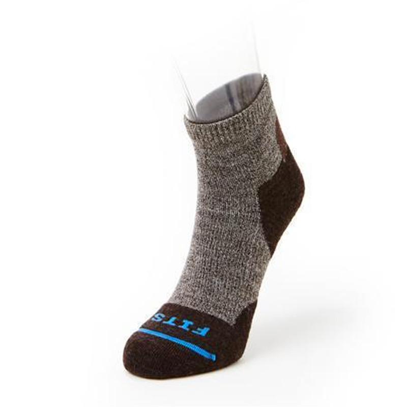 FITS Light Hiker Quarter Sock - Brown - F1003-200 - Main Image