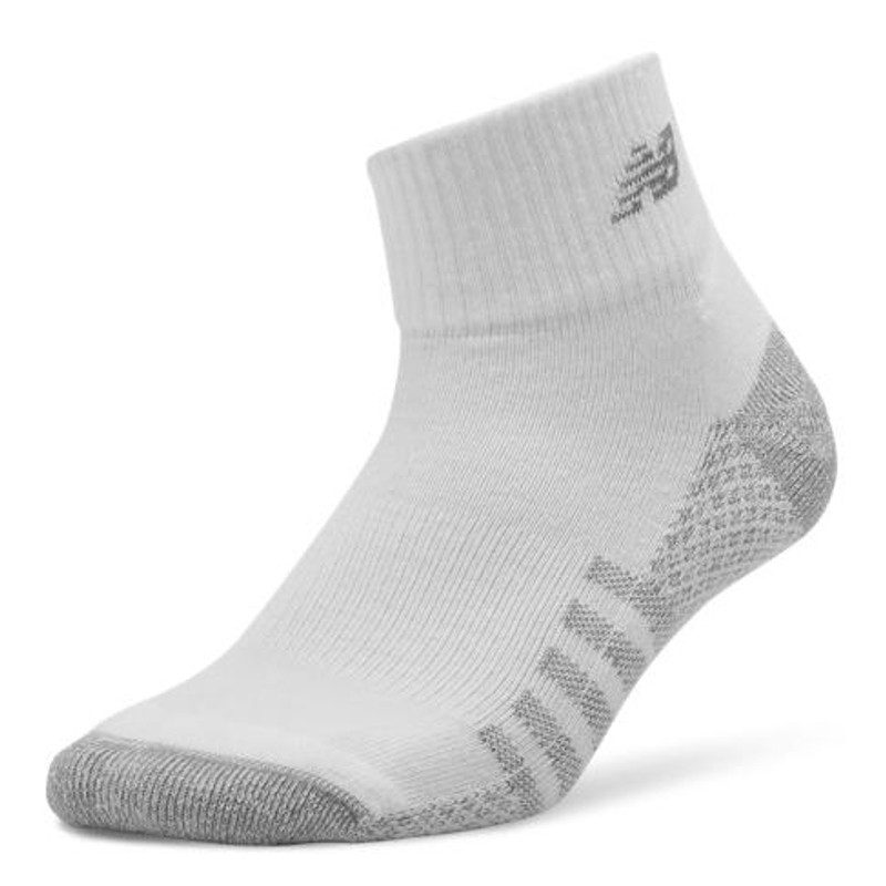 New Balance Unisex Quarter Cut Coolmax® Socks 2 pack - White