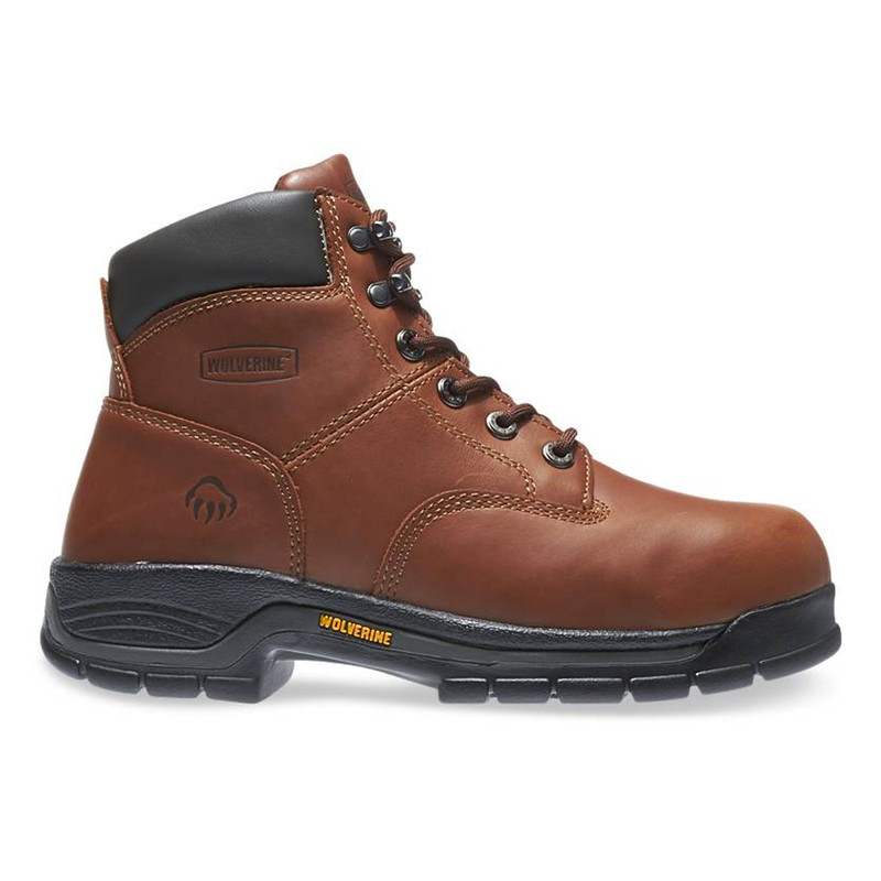 """Wolverine Men's Harrison Lace Up 6"""" Work Boot - Brown"""