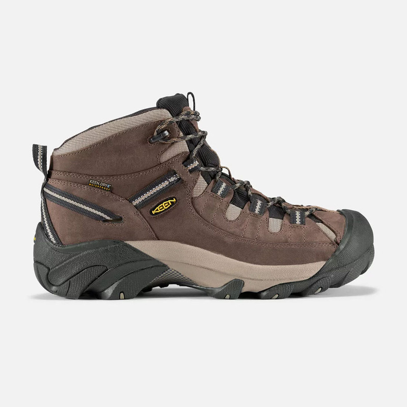 Keen Men's Targhee II Waterproof Mid Wide - Shitake / Brindle