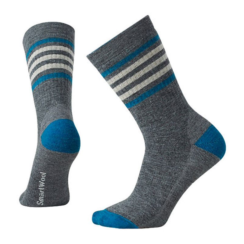 Smartwool Women's Striped Hike Medium Crew Socks - Medium Gray