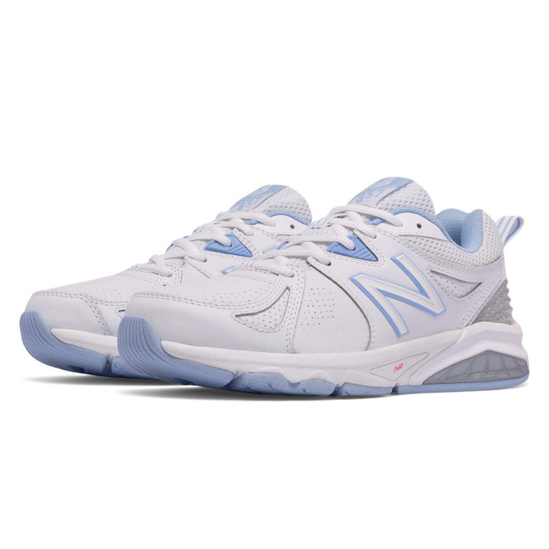 New Balance 857v2 Women's Cross-Training - White with Light Blue