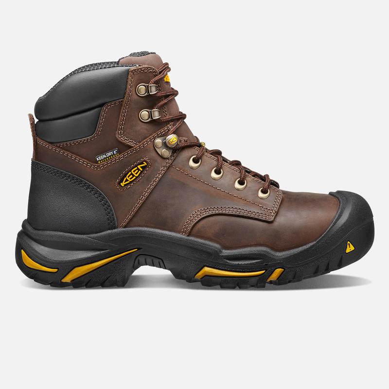 Keen Men's Mt Vernon 6 Inch Boot (Steel Toe) - Cascade Brown