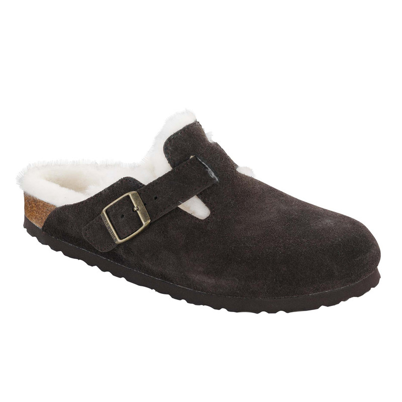 Birkenstock Boston Shearling - Mocha Suede