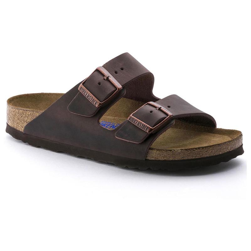 Birkenstock Arizona Soft Footbed - Habana Oiled Leather (Narrow Width)