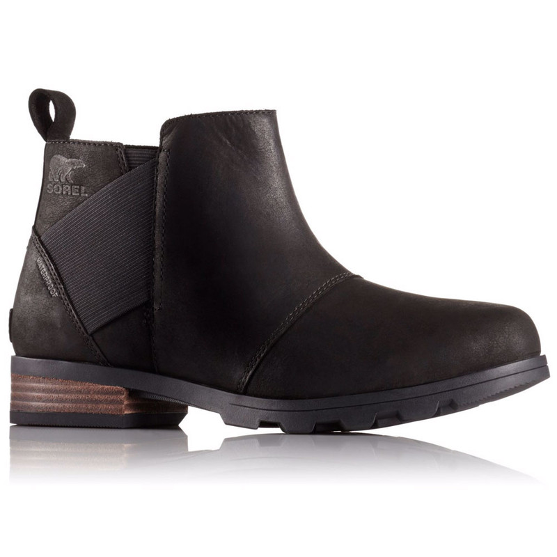 SOREL Women's Emelie Chelsea Boot - Black