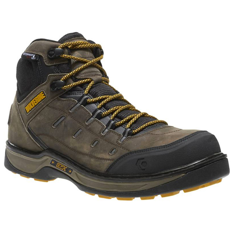 Wolverine Men's Edge LX EPX Waterproof Carbonmax Work Boot - Taupe / Yellow