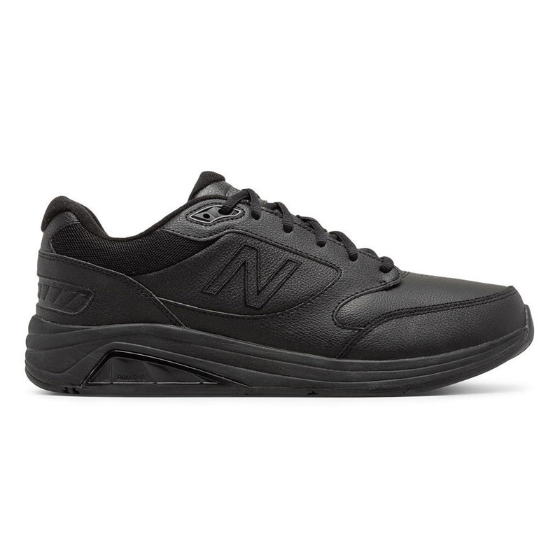 New Balance 928v3 Men's Walking - Black Leather - MW928BK3 - Profile Image