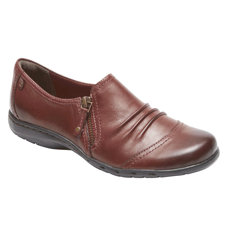 Rockport Cobb Hill Penfield Side Zip - Brick Leather