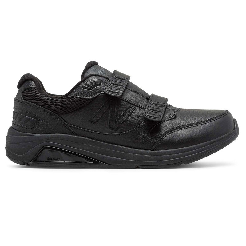 New Balance 928v3 Men's Hook and Loop Leather - Black
