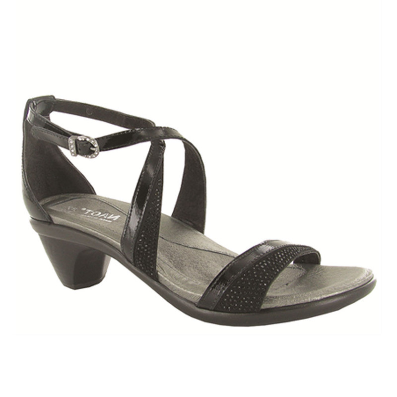 Naot Women's Onward - Black Luster / Black Crystals