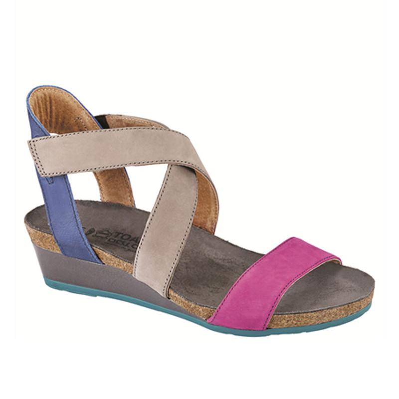 Naot Vixen - Pink Plum / Stone / Oily Blue