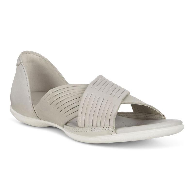 ECCO Women's Flash Crisscross Sandal - Gravel - 243903-02163 - Angle