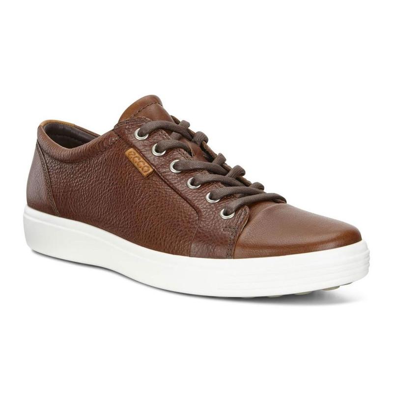 ECCO Men's Soft 7 Sneaker - Whisky - 430004-01283 - Angle
